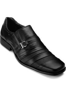 Sapato Social Couro Parello Masculino - Masculino-Preto