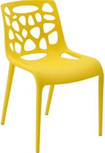 Cadeira De Jantar Giovana Amarela