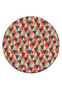 Tapete Love Decor Redondo Wevans Geométrico 94Cm