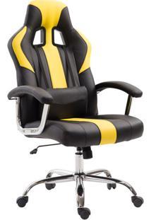 Cadeira Gamer Jaguar Preta E Amarela
