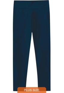Calça Azul Escuro Legging Em Supplex® Wee!