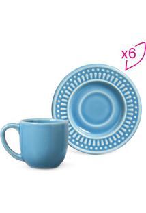 Jogo De Xícaras De Café Roma- Azul- 12Pçs- 72Ml