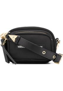 Versace Jeans Couture Logo Patch Cross Body Bag - Preto