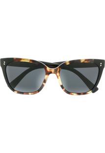 Valentino Eyewear Óculos De Sol Quadrado Va4070 - Preto