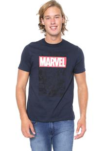 Camiseta Cativa Marvel Vingadores Azul-Marinho