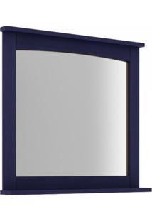Espelheira Para Banheiro Com Prateleira 78Cm Mission Mão E Formão Azul