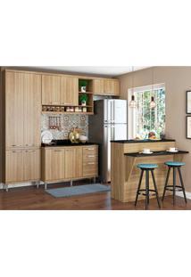 Cozinha Compacta Com Tampo 6 Peças 5846 Sicília - Multimóveis - Argila Acetinado