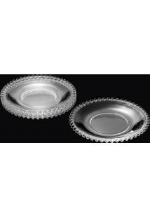 Conjunto De 4 Pratos Em Cristal - Ø 19 Cm - Transparente - Tricae