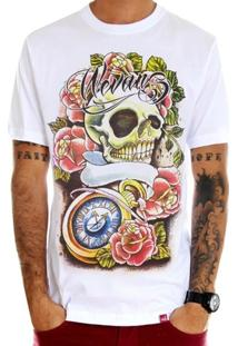 Camiseta Caveira Tattoo Old School - Masculino