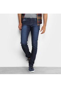 Calça Jeans Slim Preston Classic Elastano Masculina - Masculino