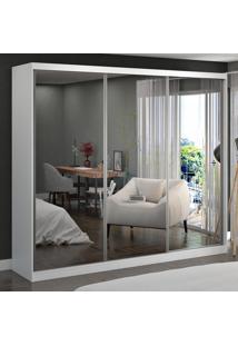 Guarda-Roupa Casal 3 Portas Com 3 Espelhos 100% Mdf 7318E3 Branco - Foscarini