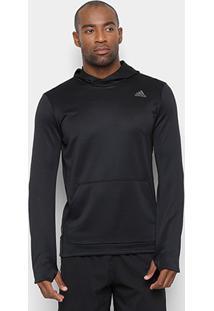 Blusa Adidas Response Hoodie Masculina - Masculino-Preto