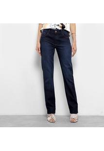 Calça Jeans Forum Marisa Slim Feminina - Feminino-Azul