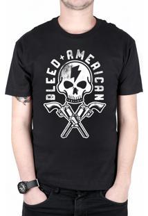 Camiseta Bleed American Skull Walker Preta