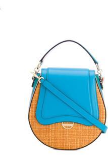 Emilio Pucci Bolsa Transversal Com Estampa - Azul
