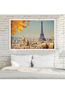 Quadro Love Decor Com Moldura Outono Em Paris Branco Médio