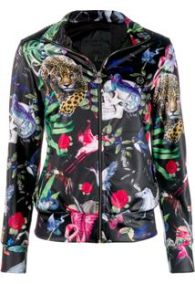 Philipp Plein Jaqueta Jogging 'Jungle' - Preto