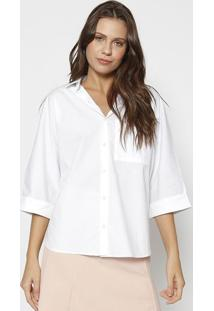 Camisa Com Bordado - Branca & Pretalez A Lez