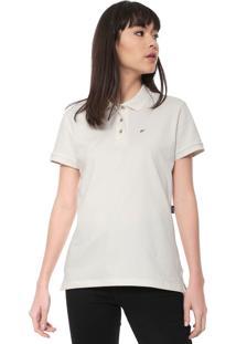 Camisa Polo Ellus Lisa Off-White