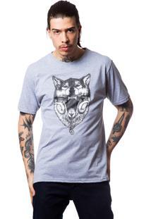 Camiseta Fallen Wolf Preto/Mescla