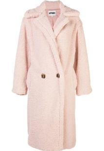 Apparis Faux Fur Coat - Rosa