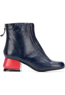 Marni Ankle Boot 'Edy' De Couro - Azul