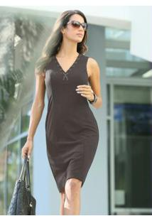 c8595cada Vestido Cinza Tubinho feminino | Shoelover