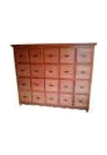 Armário Rústico Arquivo Em Madeira De Demolição - Ref1669