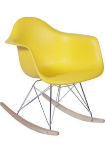 Poltrona Balanã§O Eames- Amarela & Prateada- 69X63X44Or Design