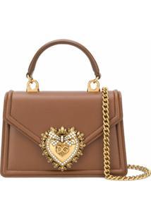 Dolce & Gabbana Bolsa Tote Devotion Pequena - Marrom