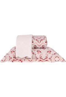 Kit Cobre Leito Queen Dupla Face Com Porta Travesseiro - Zara