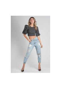 Calça 4033 Jeans Mom Traymon Azul Claro