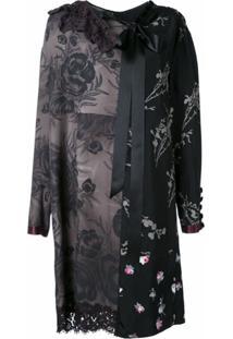 Marc Jacobs Vestido Com Recortes - Preto