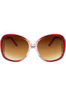 Óculos Ray Flactor Buckingham 101Co Vermelho