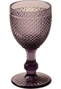 Taça Vinho Tinto Bico De Jaca Roxa