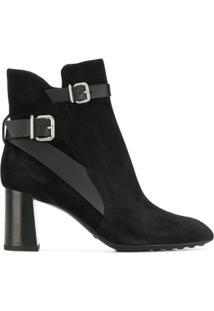 Tod'S Ankle Boot Com Fivelas - Preto