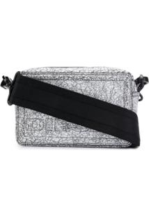 Diesel Cracked Debossed Clutch Bag - Branco
