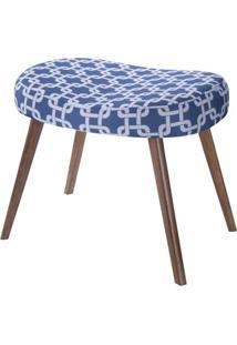 Puff Seed Estampa Rolls Azul Pes Palito Castanho - 49892 - Sun House