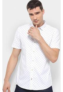 Camisa Calvin Klein Mc Masc Estampa Ck - Masculino-Branco
