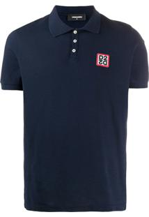 Dsquared2 Camisa Polo Com Patch De Logo - Azul