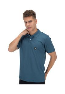 Camisa Polo Hd Estampada Simple 5653A - Masculina - Petroleo