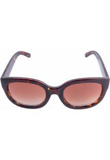 Zattini. Óculos De Sol Feminino Marrom Quadrado Marie Flanela ... 491b59d309