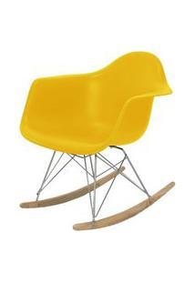 Cadeira Eames Com Braco Base Balanco Amarelo Fosco - 24504 Amarelo