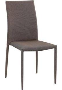 Cadeira Amanda Com Tecido Dourado
