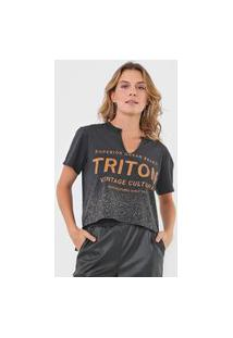 Camiseta Triton Paint Splatter Preta