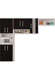 Cozinha Compacta Com 7 Portas 3 Peças - Poquema - Preto