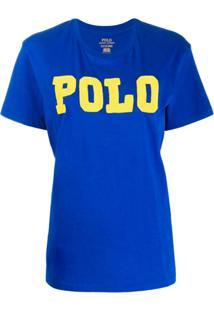 Polo Ralph Lauren Camiseta Com Aplicações - Azul