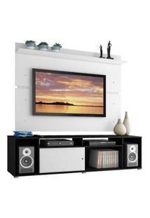 Rack Madesa Cancun E Painel Para Tv Até 65 Polegadas Preto/Branco/Branco