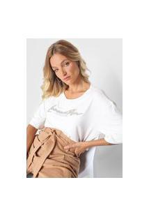 Camiseta Lança Perfume Aplicações Off-White