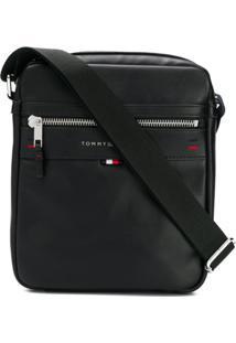 58d384732 ... Tommy Hilfiger Bolsa Carteiro Com Logo - Preto